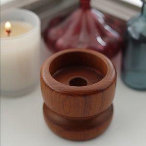Modern Wooden Candlestick Holder
